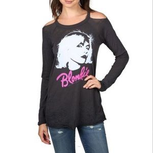 CHASER Long Sleeve, Cold Shoulder BLONDIE TEE!!